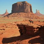 Photo of horseback rider in Monument Valley, AZ